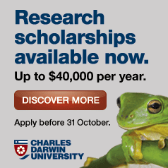 Research scholarships available now