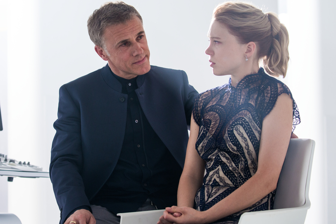 Christoph Waltz and Leå Seydoux. Jonathan Olley/ SPECTRE © 2015 Metro-Goldwyn-Mayer Studios Inc., Danjaq, LLC and Columbia Pictures Industries, Inc. All rights reserved.