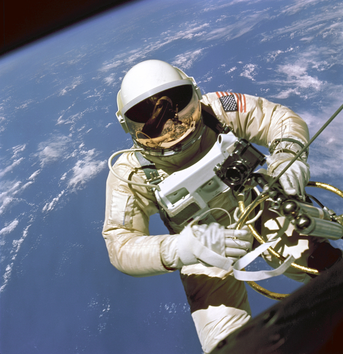 astronaut on a spacewalk
