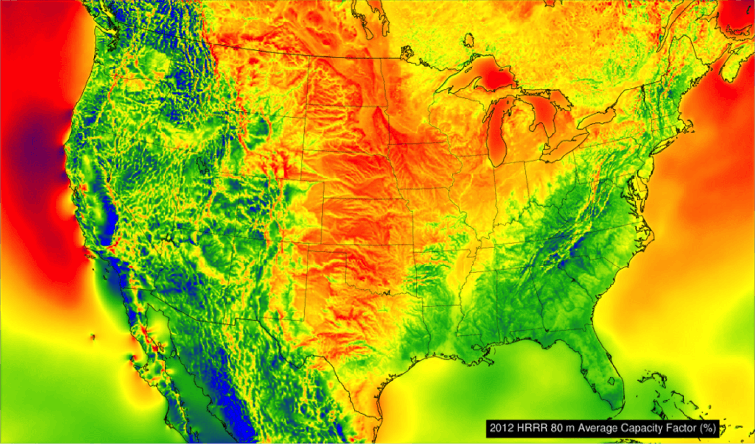 The Cheapest Way To Scale Up Wind And Solar Energy HighTech - Solar power map us