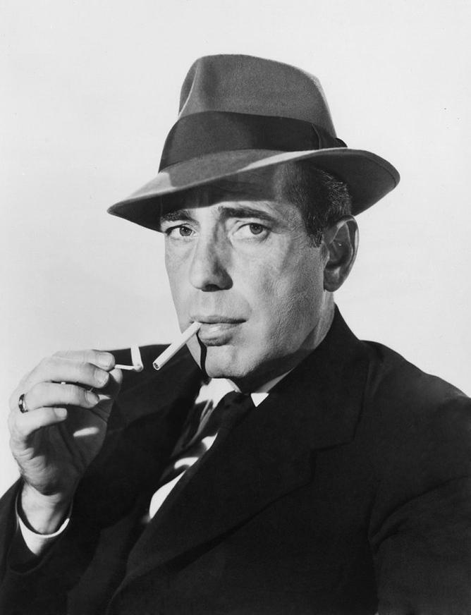 Humphrey Bogart and that cigarette.
