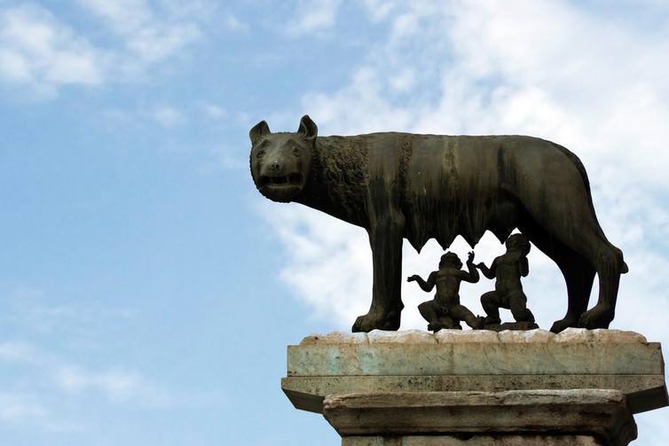 Wolf beginnings: Romulus and Remus, founders of Rome. Credit: Shutterstock
