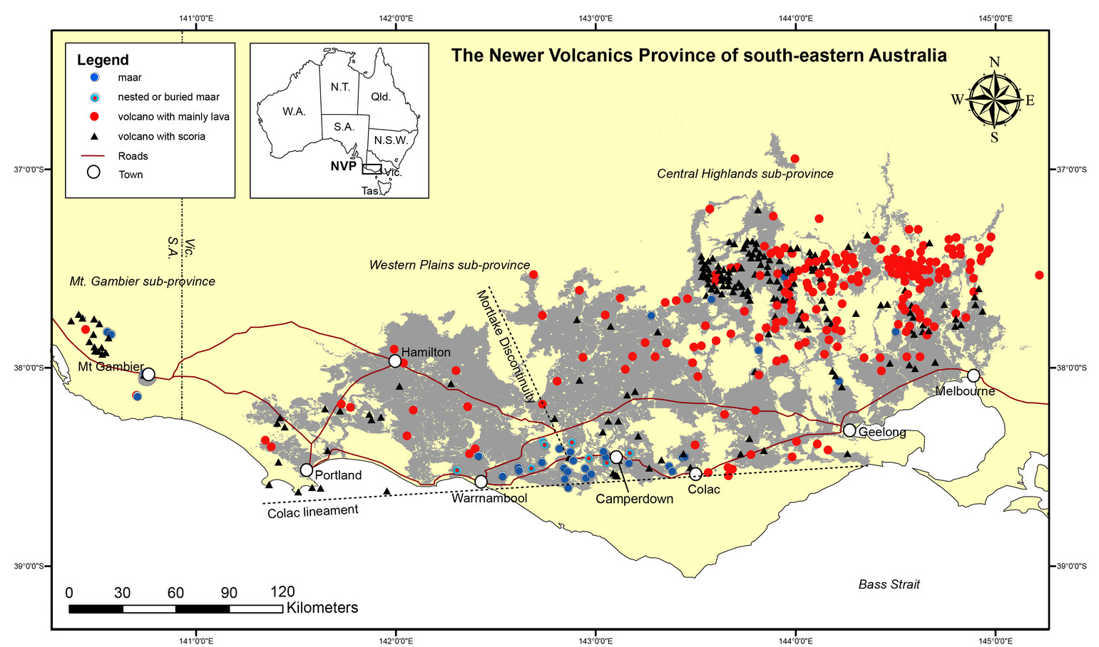Australias Volcanic History Is A Lot More Recent Than You Think - Map of us volcanoes