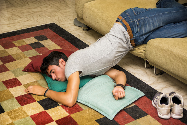 Passing out, not quite the same as getting some kip. Source: Shutterstock