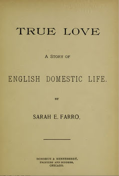 The title page for 'True Love.' Author provided
