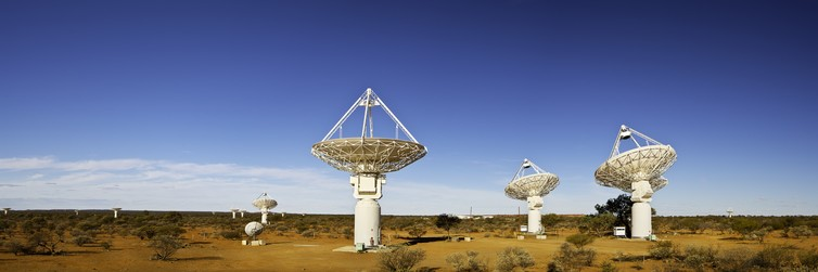 CSIRO's ASKAP antennas at the Murchison Radio-astronomy Observatory, March 2013. Neal Pritchard