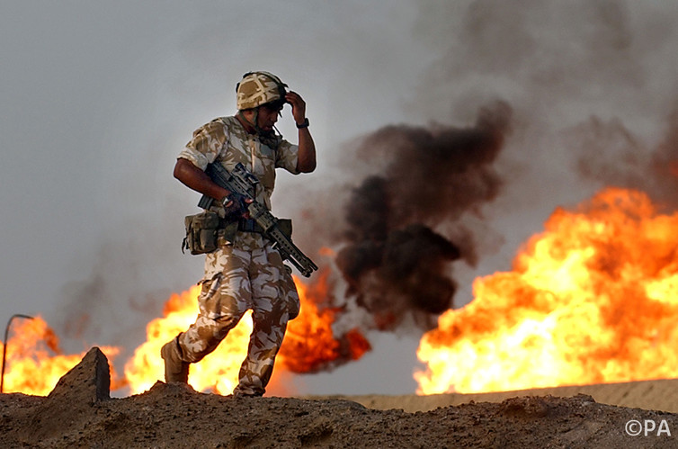 Now what? The occupation never worked out how to share Iraq's oil. (Photo: David Cheskin/PA)