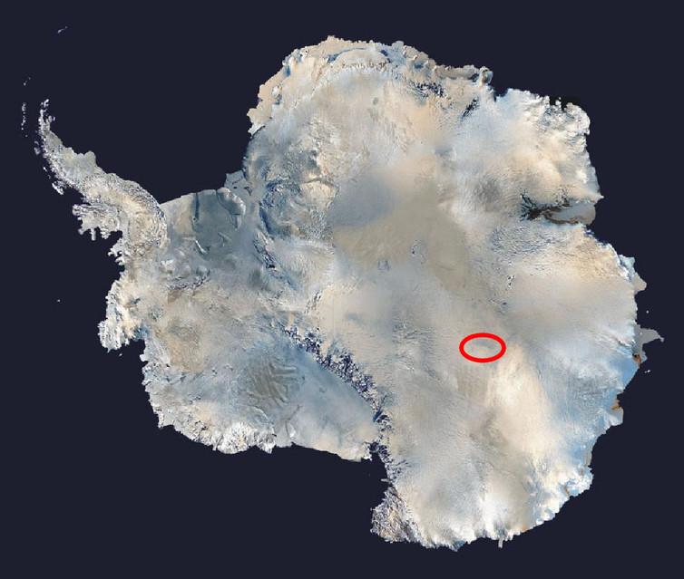 Satellite image of Antarctica