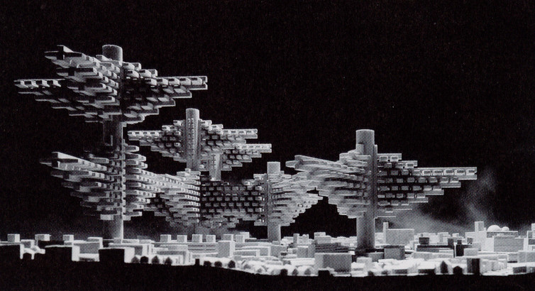 Cities in the Air, Arata Isozaki 1960.