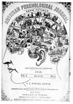 Phrenology posited that personality traits were located in specific parts of the brain. (Image: Wikimedia Commons / Public Domain)
