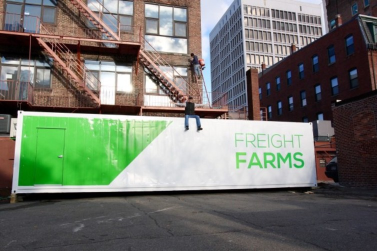 A Freight Farms container. Photo: Freight Farms