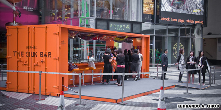 The Hermes Silk Bar pop-up in Hong Kong. Photo: Fernando A. Gros