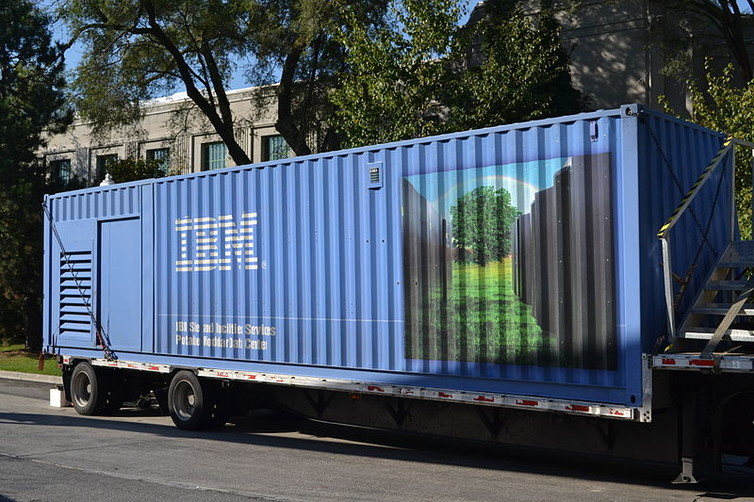 An IBM portable and modular data centre. Photo: IBM