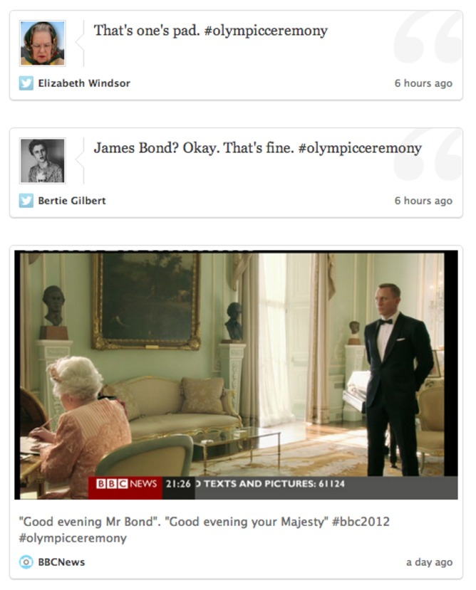James Bond collects the Queen | Twitter