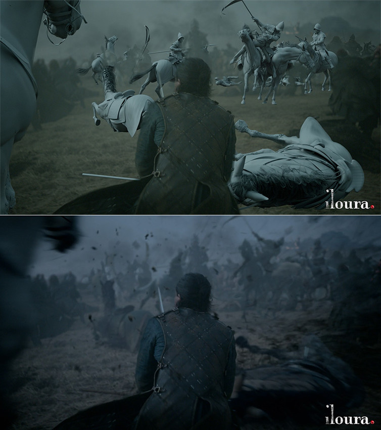 Kit Harington battles imaginary enemies.</