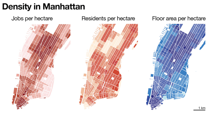 Density in Manhattan