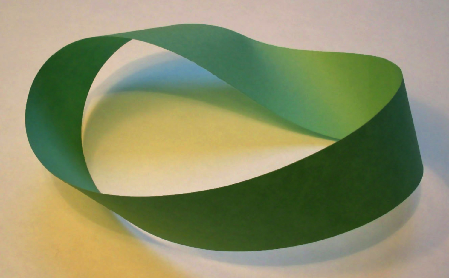 Mobius strip: a piece of paper with only one side. David Benbennick, CC BY-SA