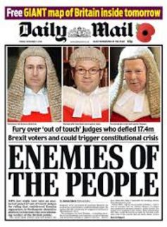 Mail on judges. Daily Mail