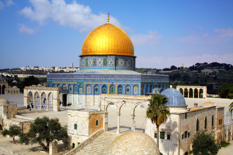The Dome of Rock at the Temple Mount in Jerusalem.  idobi, CC BY-SA