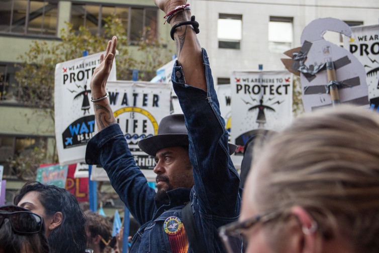 A water protest in San Francisco