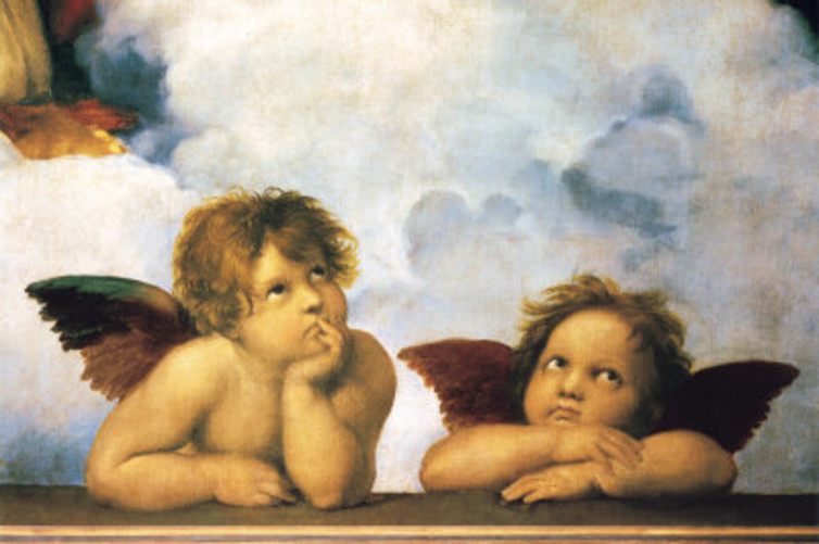 Raphael's angels may be gender-neutral but children worldwide are raised differently according to their genders.  Raphael