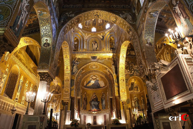 12th-century Palatine Chapel in Sicily was designed in the imperial style of the Fatimids, rulers of Egypt 10th - 12th centuries