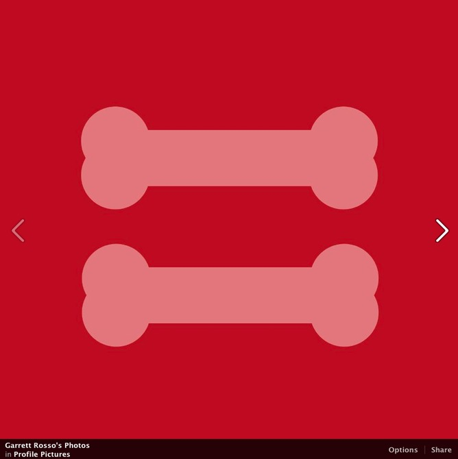 Garrett Rosso, formerly an art director for TIME, shared this canine equality evolution of the HRC equal sign. | Garrett Rosso/Facebook