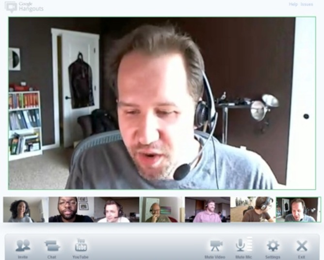 Multi-party videochat in Google Hangout. | adria.richards