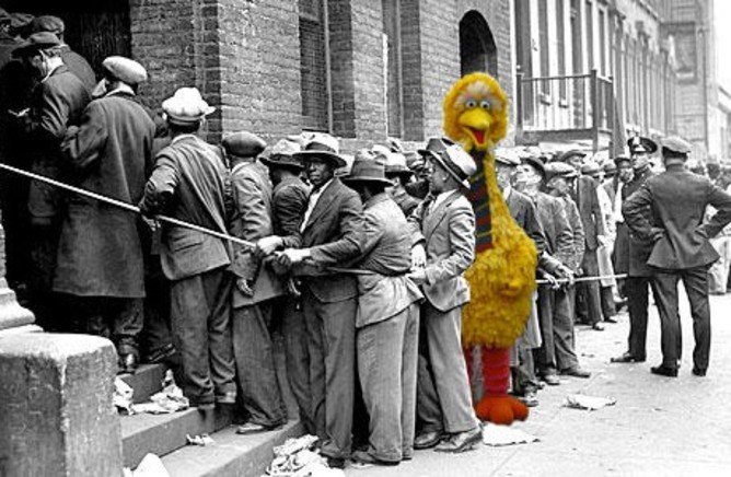 Big Bird unemployment meme | Salon.com