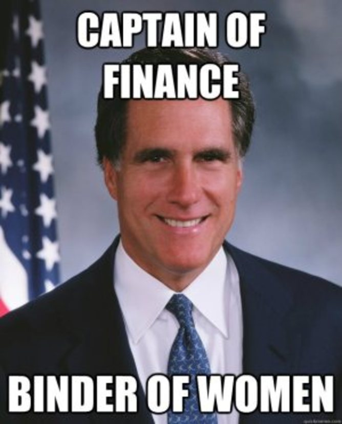Mitt Romney binders full of women meme | bindersfullofwomen.com