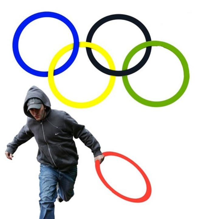 Looting the Olympic logo. | Know Your Meme