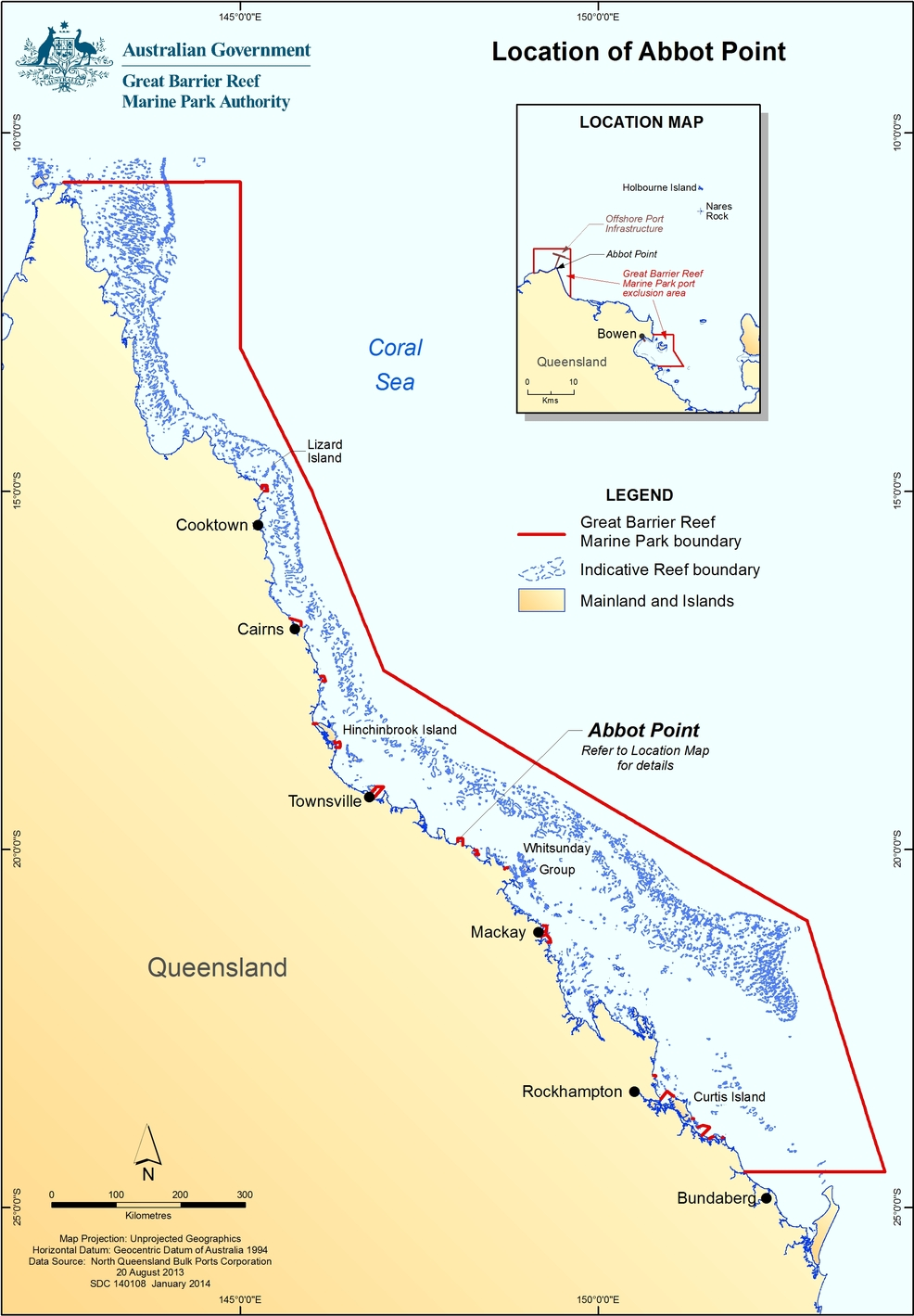 Let 39 s dump great barrier reef dredging myths authority chief for Location parking