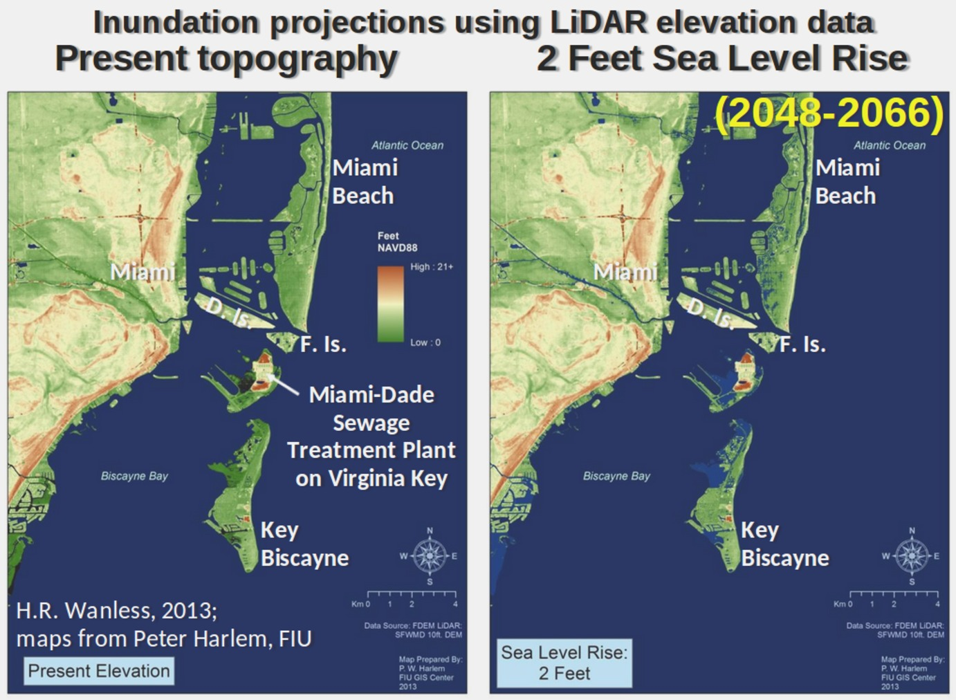 Global Warming Threat Florida Could Be Overwhelmed By Sudden Sea - Sea level rise map florida