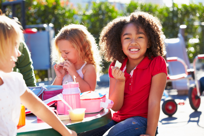 Lunchtime In The Schoolyard Could Leave Something To Be Desired Nutritionally Kids Image Via Shutterstock