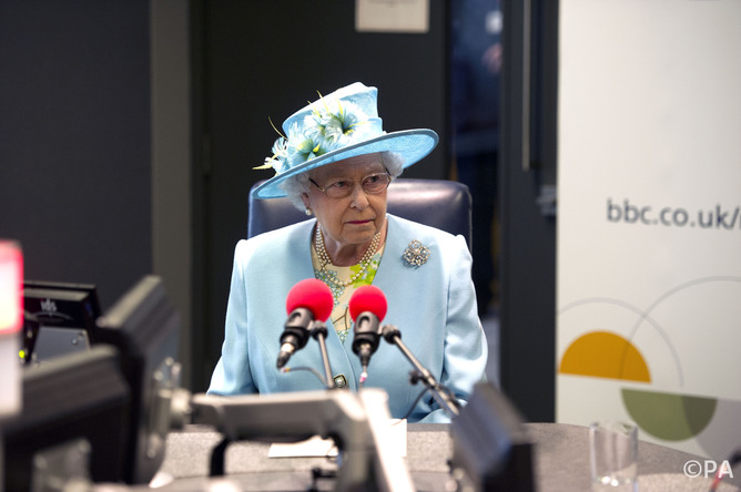 caption:A woman over 50 makes a rare radio appearance. Arthur Edwards/The Sun/PA Archive