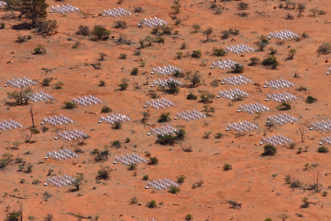 Part of the Murchison Widefield Array radio telescope, Western Australia.
