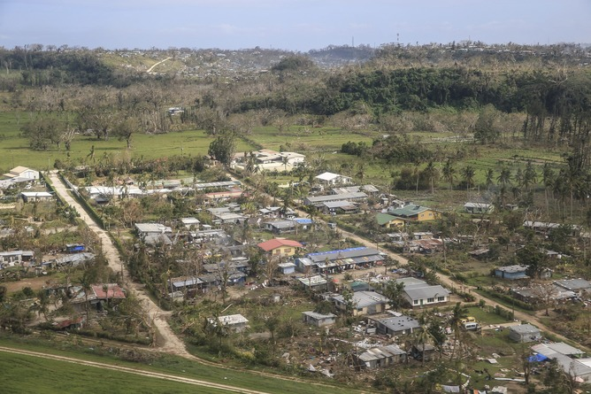 destruction after Cyclone Pam