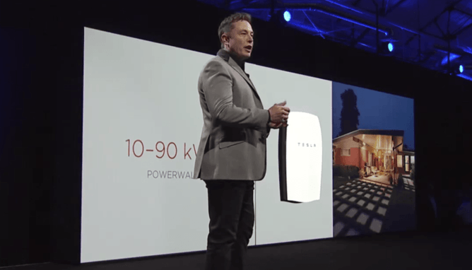 Amid the fanfare over the launch of the Powerwall, has Tesla's Elon Musk struck a decisive blow for renewable energy? YouTube/Tesla Motors
