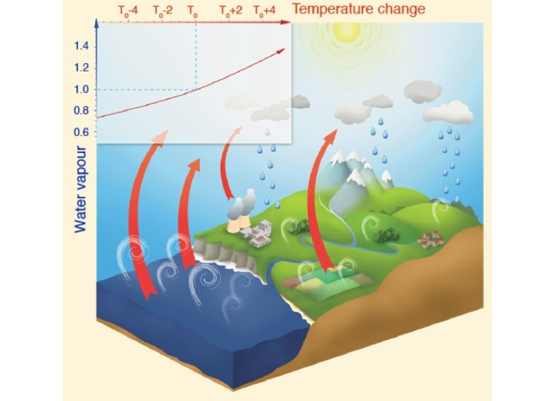Water vapor greenhouse gas ecosystem