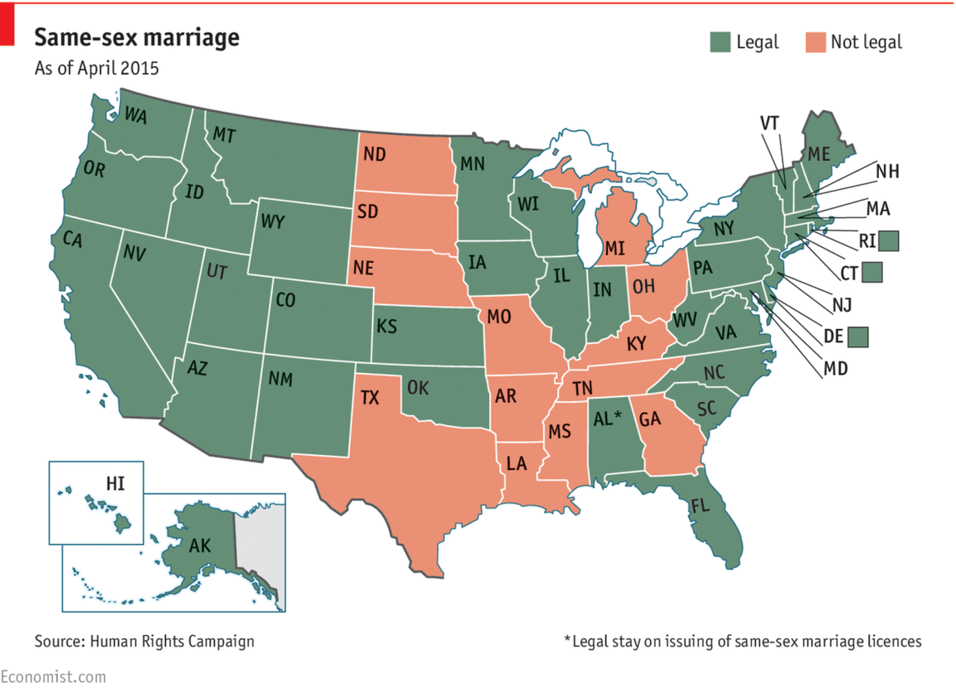 from Charles where is gay marriage legal in america