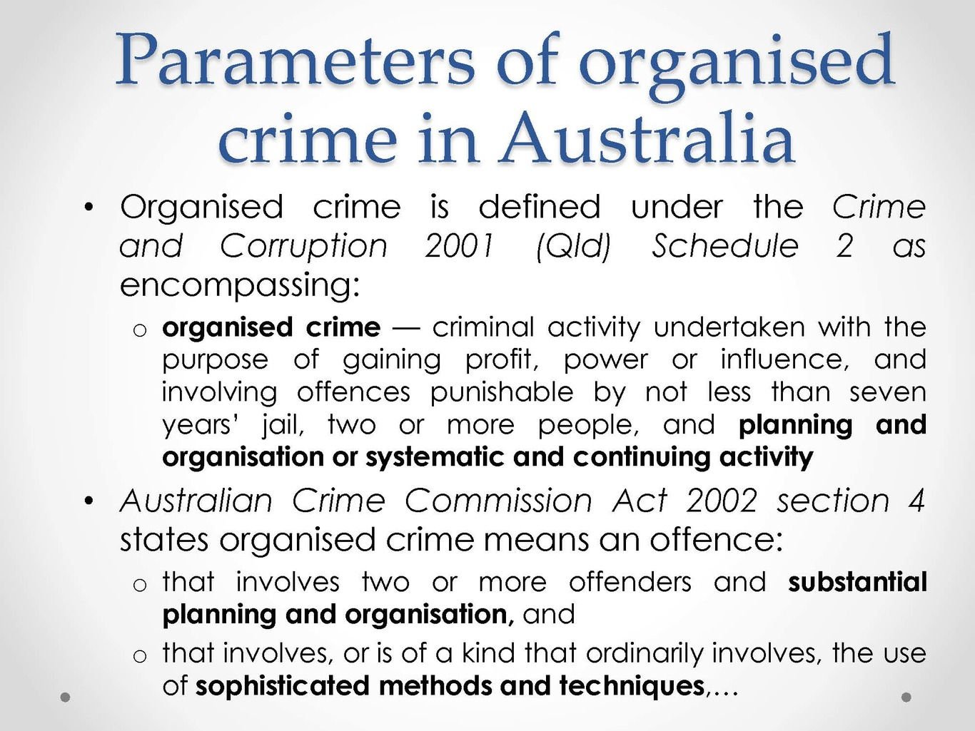 a definition of organized crime Definition of organized crime in the audioenglishorg dictionary meaning of organized crime what does organized crime mean proper usage and pronunciation (in phonetic transcription) of the word organized crime.