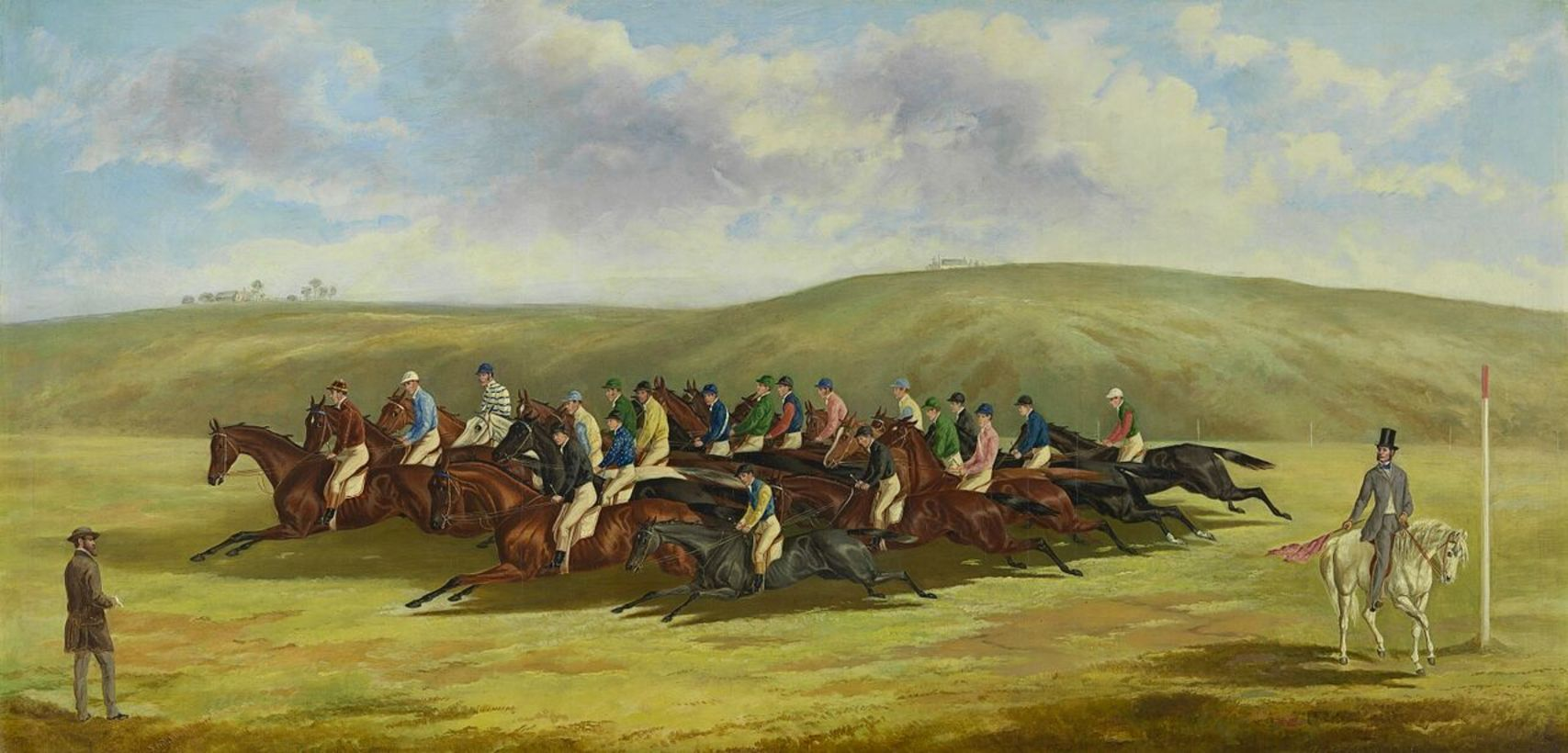 Frederick Woodhouse Senior, 1820–1909. The Cup of 1862-1863, oil on canvas. Donated by Mr F. W. Prell, 1889 Victoria Racing Club Collection. The National Gallery of Victoria, Author provided