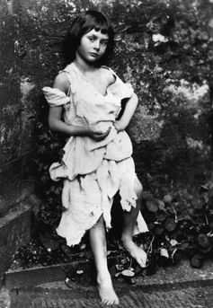 Alice Liddell as a beggar-maid, as photographed by Lewis Carroll. Wikipedia